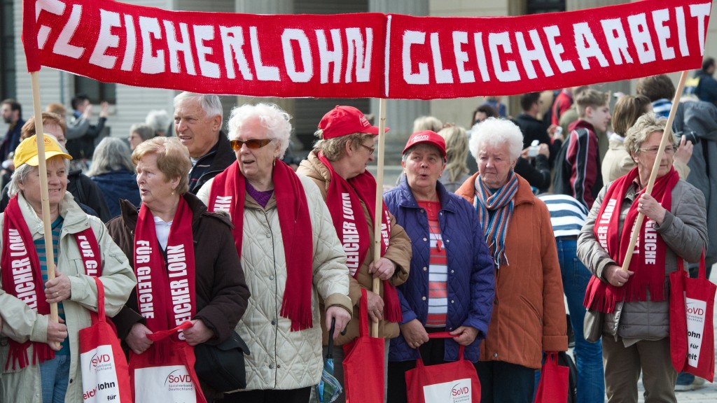 Foto: Demonstration zum equal pay day