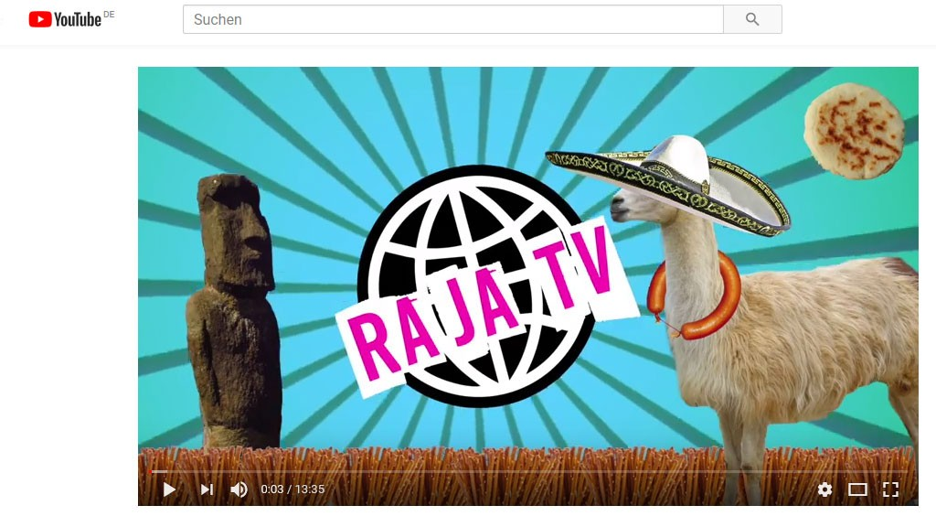 Screenshot RajaTV bei YouTube (Bild: Screenshot)