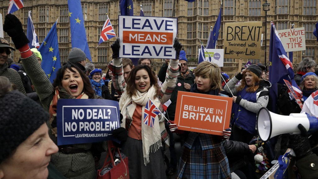 Brexiteer-Demo in London (Foto: dpa / Matt Dunham)