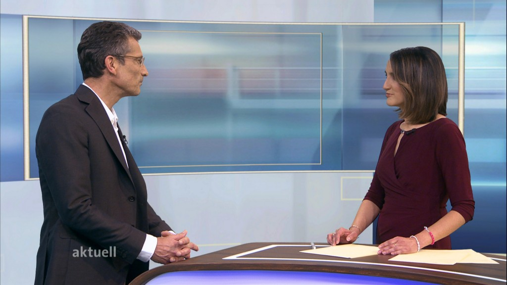 Foto: Antonio Krüger im  Interview mit Kerstin Gallmeyer
