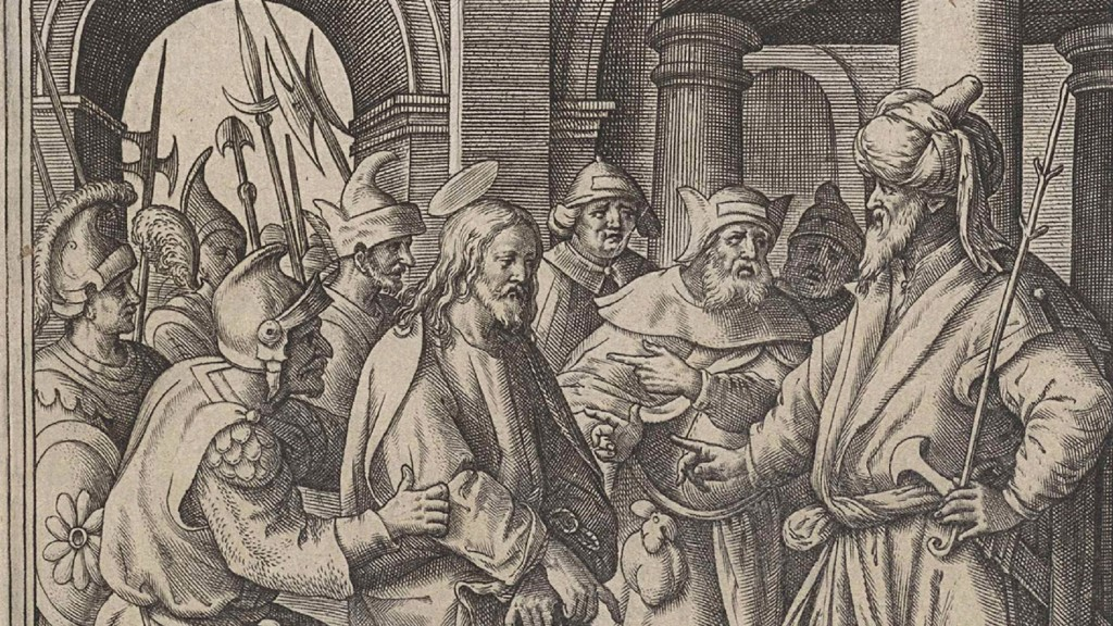 Christ before Pilate, Hieronymus Wierix 1563 - before 1586 (Bildquelle: imago images / Artokoloro)
